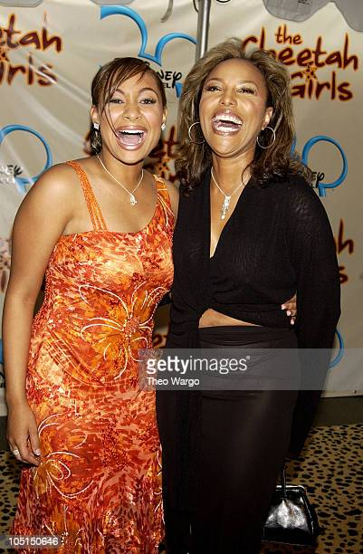 RavenSymone and Lynn Whitfield during New York Premiere of Disney's 'The Cheetah Girls' at La Guardia High School in New York City New York United...