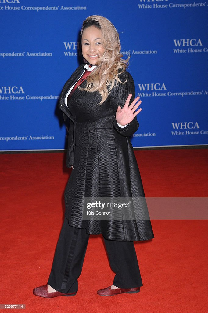 <a gi-track='captionPersonalityLinkClicked' href=/galleries/search?phrase=Raven&family=editorial&specificpeople=201783 ng-click='$event.stopPropagation()'>Raven</a>-Symone attends the 102nd White House Correspondents' Association Dinner on April 30, 2016 in Washington, DC.
