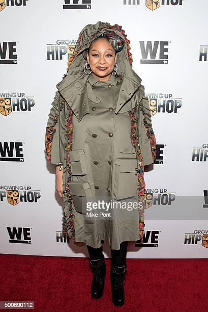 RavenSymone attends WE tv's 'Growing Up Hip Hop' premiere party at Haus on December 10 2015 in New York City
