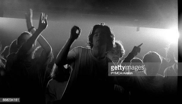 Ravers on the dancefloor The Hacienda Manchester 1989