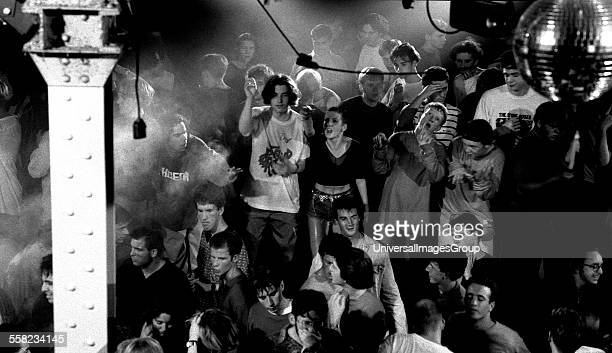 Ravers on the main stage in the Hacienda Manchester 1989