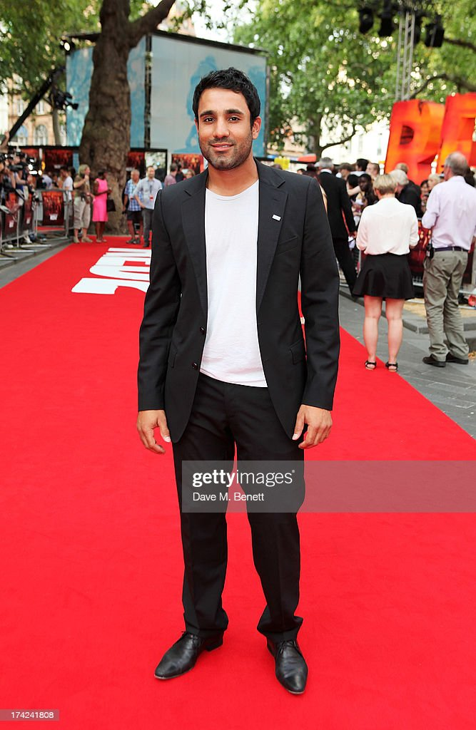 Ravi Bopara attends the European Premiere of 'Red 2' at the Empire Leicester Square on July 22, 2013 in London, England.