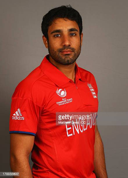 Ravi Bopara of England poses during an England Portrait Session ahead of the ICC Champions Trophy at the Birmingham International Convention centre...