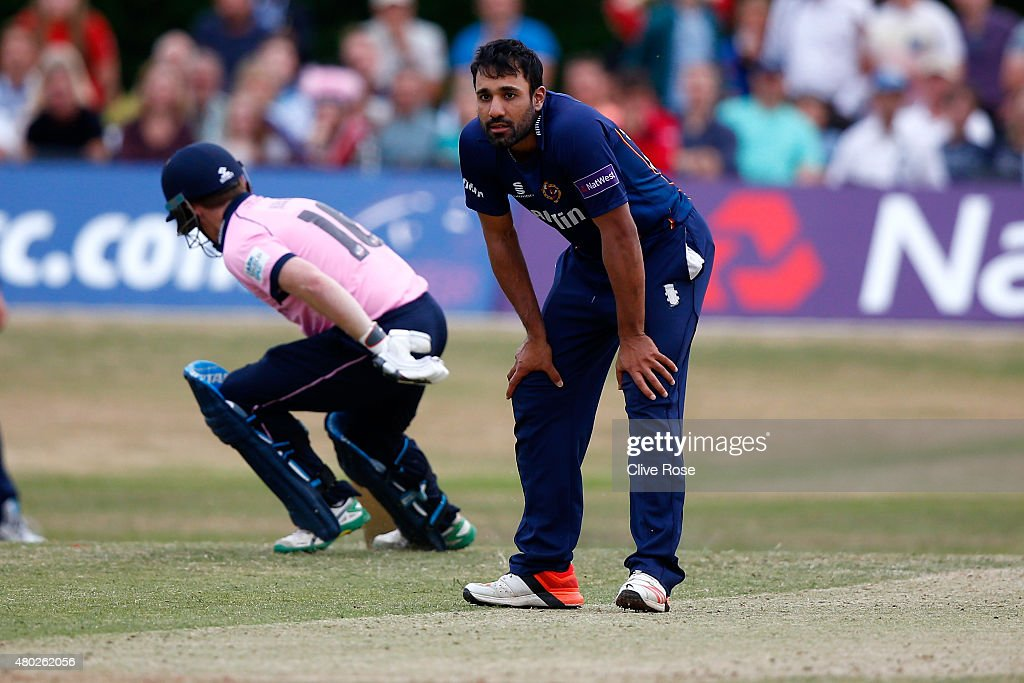 Ravi Bopara of Essex looks on during the NatWest T20 Blast match between Middlesex and Essex at Old Deer Park on July 10 2015 in Richmond England