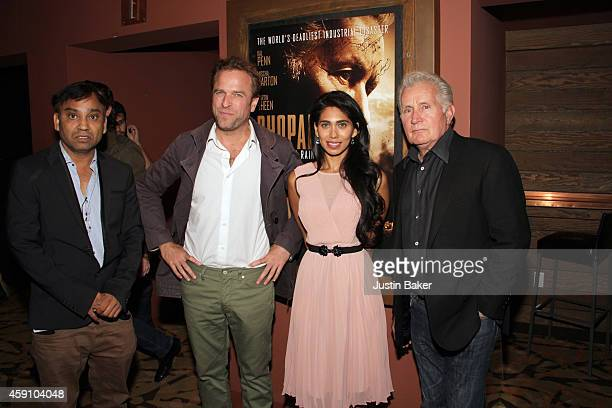 Ravi Kumar David Brooks Fagun Thakrar and Martin Sheen attend Revolver Entertainment Presents 'Bhopal A Prayer For Rain' Los Angeles opening weekend...