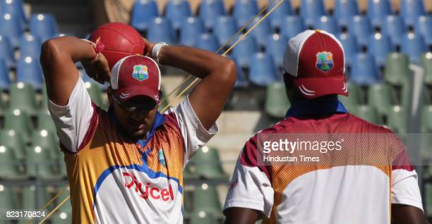Ravi Rampal of West Indies Team practice's at Wankhede Stadium in Mumbai on Sunday
