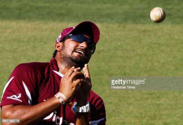 Ravi Rampaul of West Indies practices at 3rd One day match of Airtel ODI series held at Sardar Patel Gujarat Stadium on Sunday in Ahmedabad