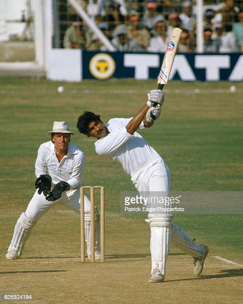 Ravi Shastri batting for India during his innings of 142 in the 1st Test match between India and England at Wankhede Stadium Bombay India 29th...