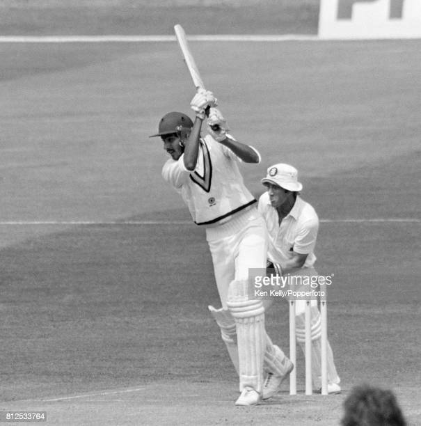 Ravi Shastri batting for India during the 1st Prudential Trophy One Day International between England and India at Headingley Leeds 2nd June 1982 The...