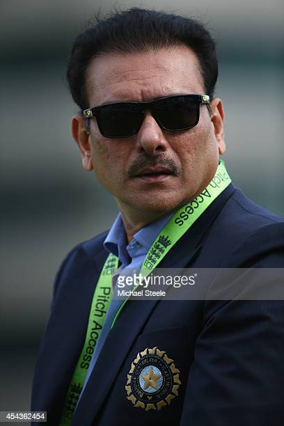 Ravi Shastri of India during the third Royal London OneDay Series match between England and India at Trent Bridge on August 30 2014 in Nottingham...