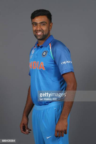 Ravichandran Ashwin of India poses during an India Portrait Session ahead of ICC Champions Trophy at Grange City on May 27 2017 in London England