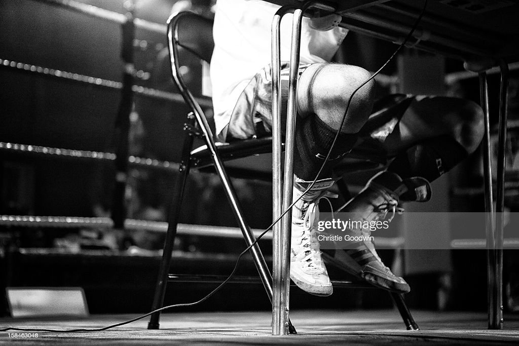 Ravil Galiakhmetov in the ring during the Chessboxing 2012 Season Finale at Scala on December 8, 2012 in London, England.
