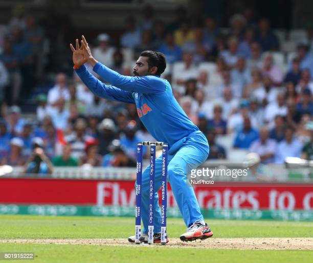 Ravinda Jadeja of India during the ICC Champions Trophy Final match between India and Pakistan at The Oval in London on June 18 2017