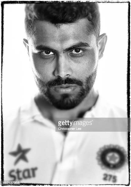 Ravindra Jadeja of India poses on July 7 2014 in NottinghamEngland