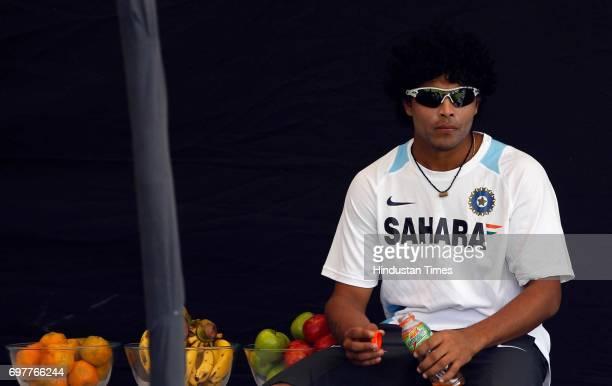 Ravindra Jadeja of India practices at 3rd One day match of Airtel ODI series held at Sardar Patel Gujarat Stadium on Sunday in Ahmedabad