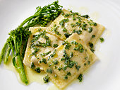 Ravioli in Brown Butter Garlic and Parsley Sauce
