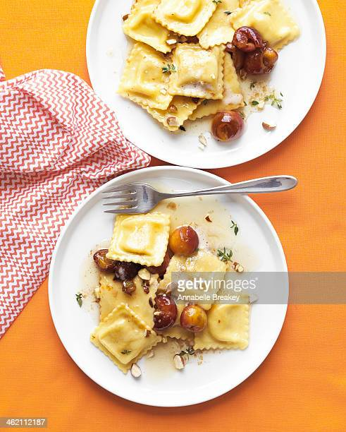 Ravioli with Cherries
