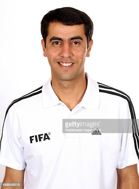 Ravshan Irmatov poses during the Workshop for Prospective Referees for the 2014 FIFA World Cup at the Windsor Barra Hotel on May 27 2013 in Rio de...