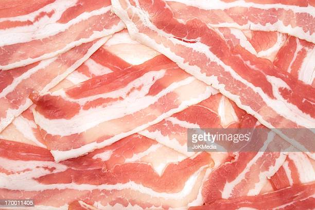 Raw Bacon Background