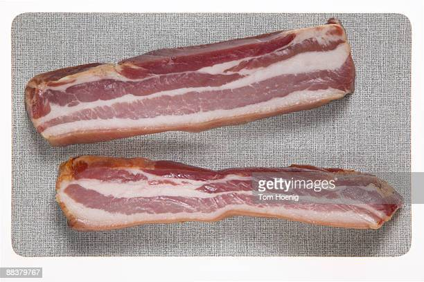 Raw bacon, close-up