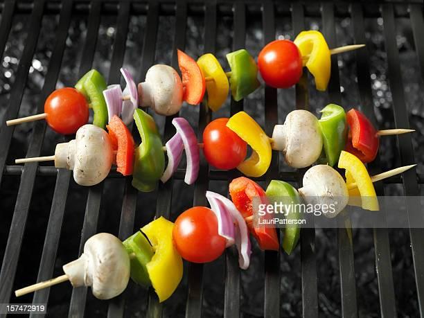 Barbecue Brochettes de légumes crus