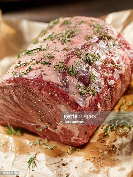Raw Beef Roast with Fresh Herbs