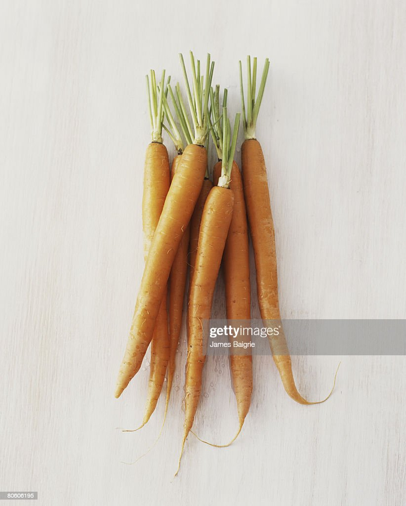 Raw carrots : Stock Photo