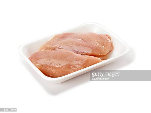 Raw Chicken Breasts in Tray