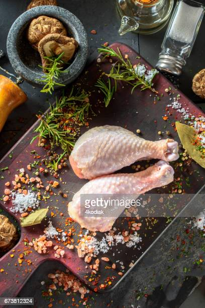 Raw Chicken with Spices