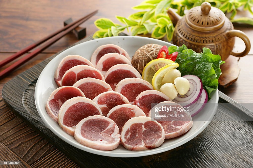 Raw duck meat : Stock Photo
