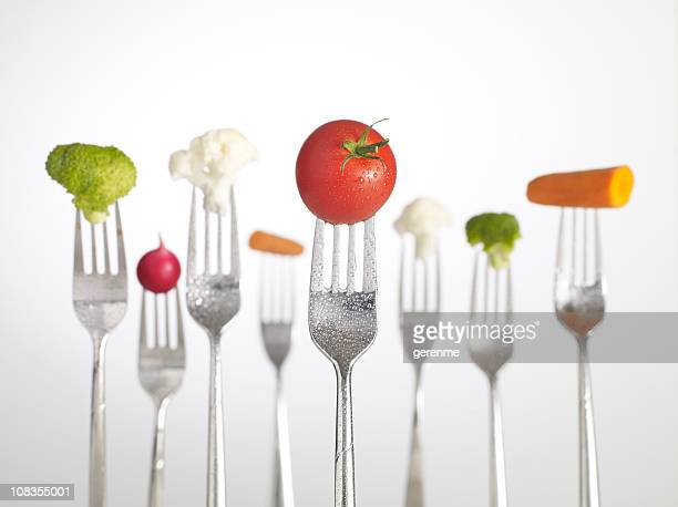 Raw Food on forks