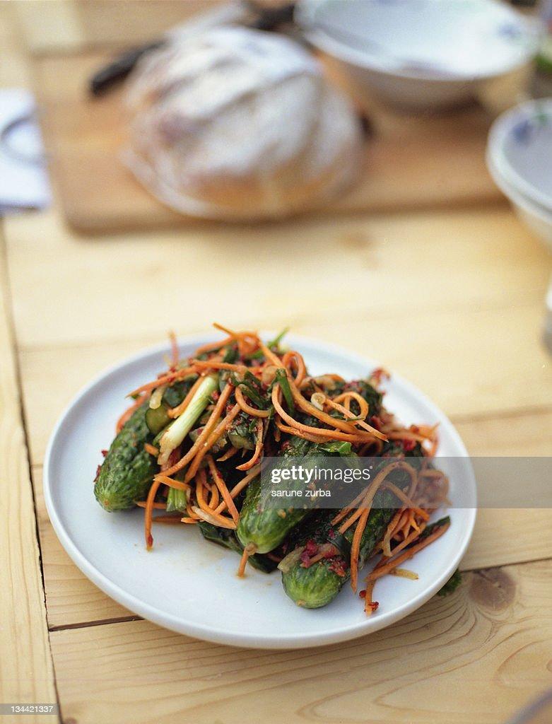 Raw food salad : Stock Photo