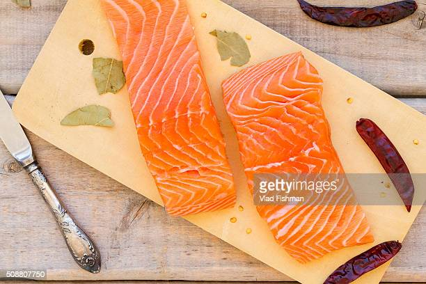Raw fresh Salmon fillet