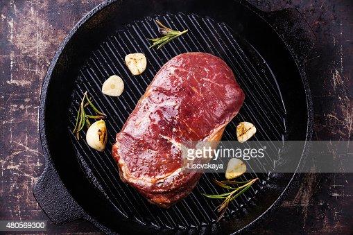 Raw fresh uncooked meat Steak Ribeye : Stock Photo