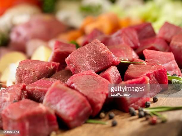 Raw Zutaten für Rindfleisch-Eintopf