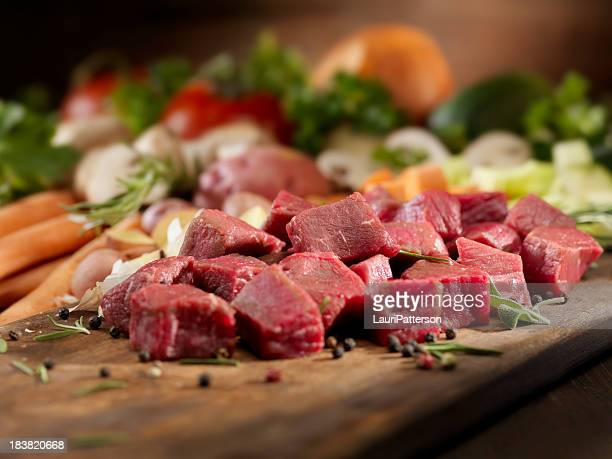 Raw Ingredients for Beef Stew