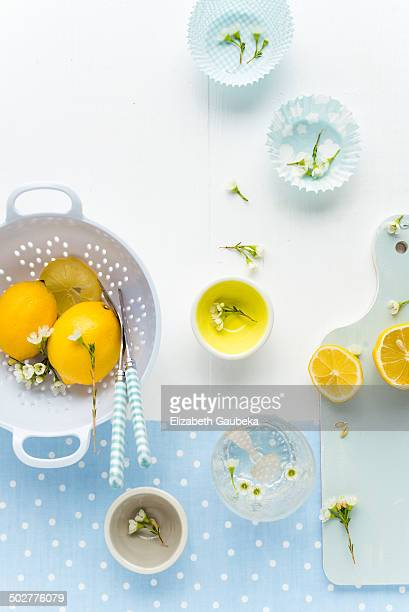 Raw Lemons and Fresh Flowers