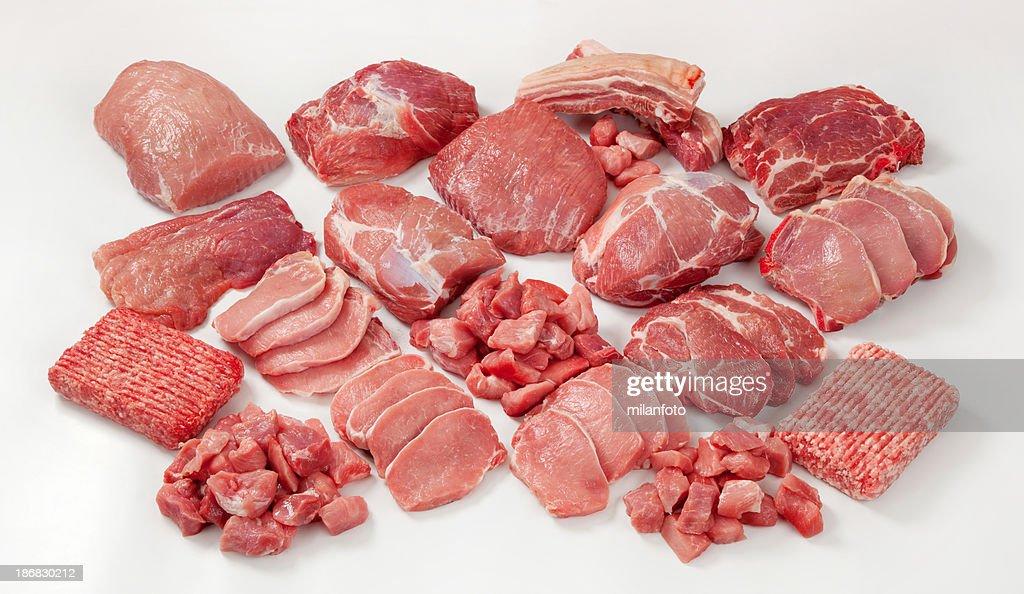 Raw meat assortment