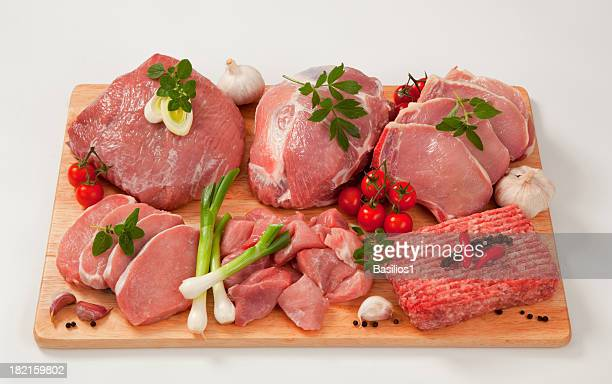 Raw meat with garnish