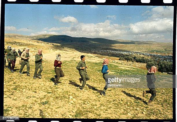 Raw military recruits are shown exercising in training in Jordan The recruits spend three weeks here before going on to the threemonth training of...