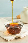 Raw Organic Dark Agave Syrup in a Bowl
