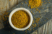 Raw Organic Yellow Bee Pollen for Good Health