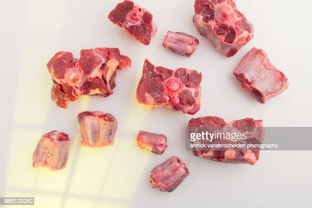 Raw oxtail.
