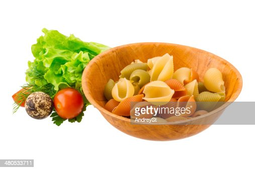 Raw pasta : Stock Photo