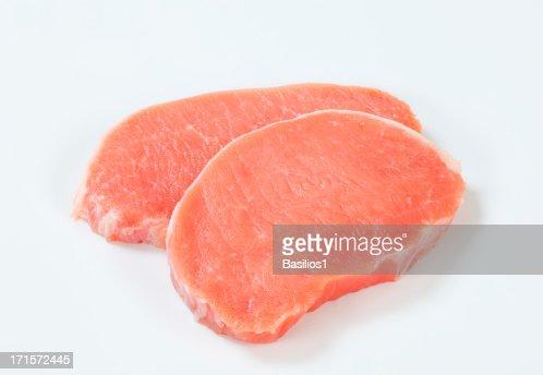 生豚ロース肉のチョップ