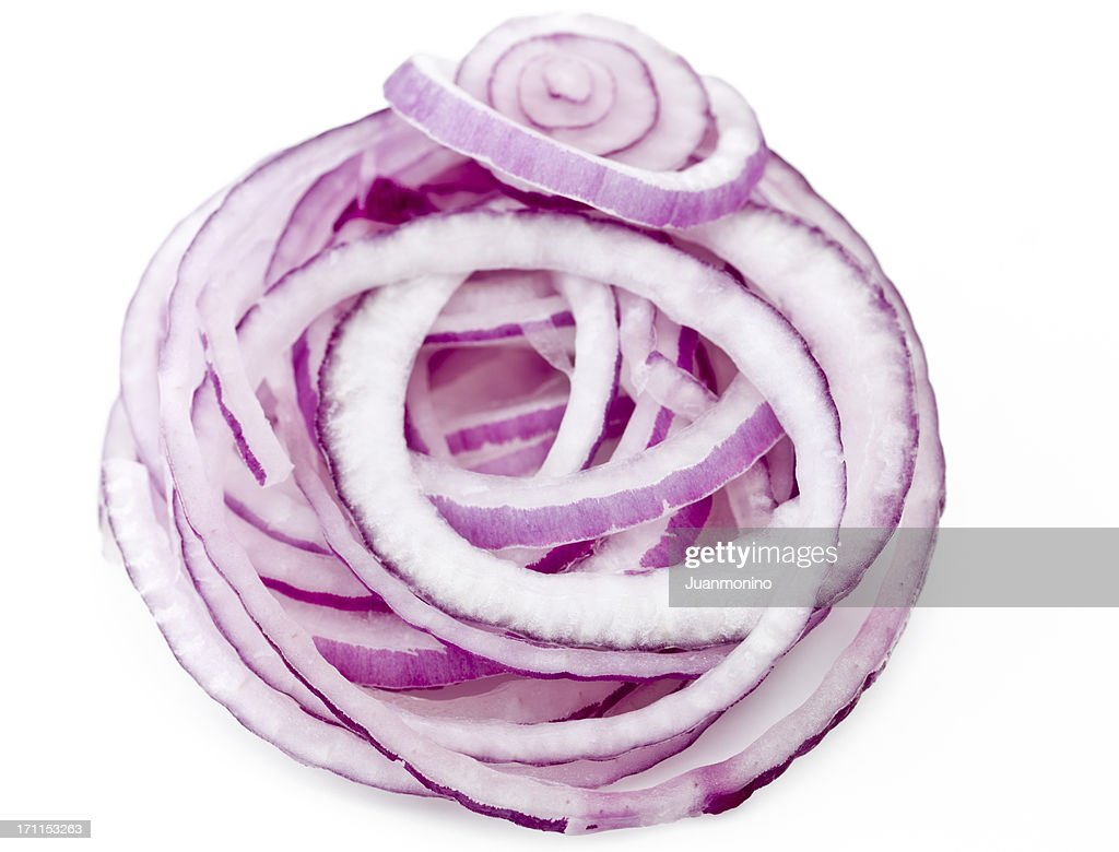 Raw Red Onion Rings