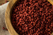 Raw Red Organic Annatto Seeds in a Bowl