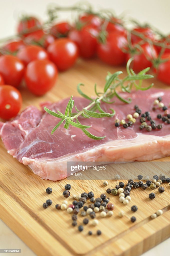 Raw Rump Steak : Stock Photo