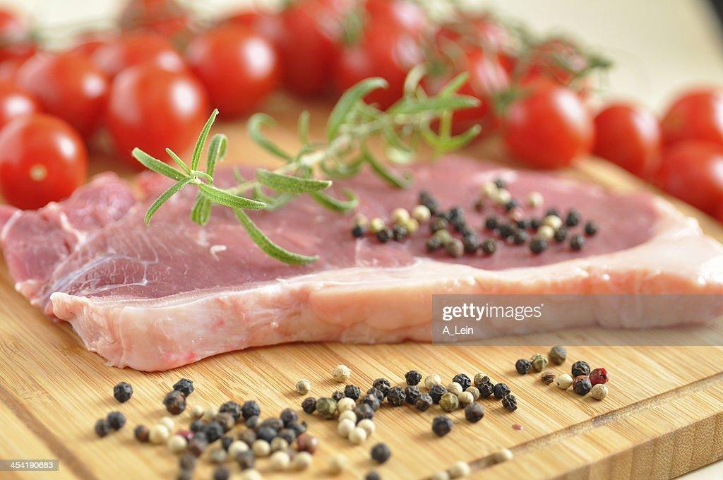 Raw Rump Steak : Stock Photo