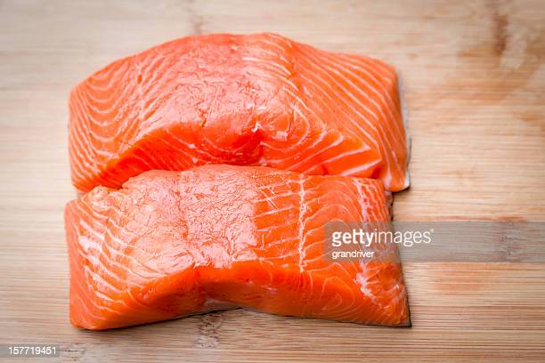 Raw Salmon Filets